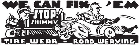 We Can Fix Em. Retro Ad Art Banner vector illustration
