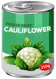 A Can of Freeze-Dried Cauliflower. Illustration royalty free illustration