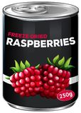 A Can of Freeze-Dried Raspberries. Illustration royalty free illustration