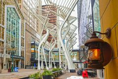 Galleria Trees, art in Calgary, Canada. royalty free stock photography