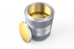 Can with golden paint Royalty Free Stock Photo