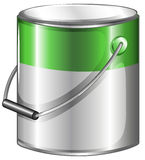 A can of green paint. Illustration of a can of green paint on a white background Royalty Free Stock Photography