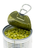 Can of green peas Royalty Free Stock Photos
