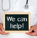 We can help ! stock image