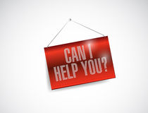 Can I help you hanging banner illustration Royalty Free Stock Photos