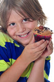 Can i PLEASE have a cupcake. Shot of can i PLEASE have a cupcake Royalty Free Stock Image