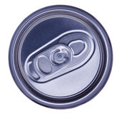 CAN. Isolated image of can, viewed from top stock photo