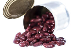 Can with Kidney Beans (on white) Royalty Free Stock Photo