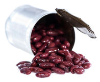 Can with Kidney Beans (on white) Royalty Free Stock Photography