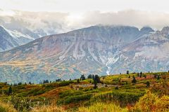 Landscape in fall at Haines Highway royalty free stock photo