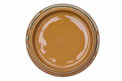 Can lid with brown paint isolated on white background Stock Image