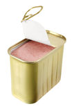 Can of Luncheon Meat. On White Background Royalty Free Stock Photo