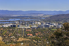 CAN modern city centre Mt Ainslie Royalty Free Stock Image