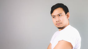 Can not be trust face on empty copyspace. Royalty Free Stock Images
