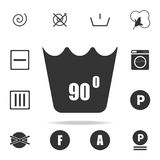 Can not be washed above 90 degrees icon. Detailed set of laundry icons. Premium quality graphic design. One of the collection icon. S for websites, web design Stock Photography