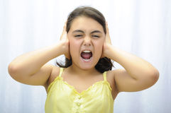 She can not listen Stock Images