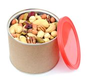 Can of nuts Stock Photography