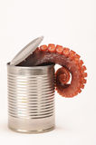 Can of octopus Stock Photography