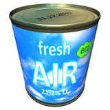 Can Of Ecologic Fresh Air - Cartoon Royalty Free Stock Photography