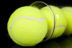 Free Can Of Three New Tennis Balls Royalty Free Stock Photos - 23876448