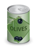 Can with olives. Stock Photography