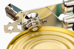 The can opener. Opens can Royalty Free Stock Images