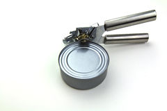 Can Opener with Can Stock Images