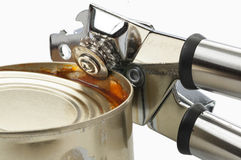 The can opener. Opens can Stock Photo