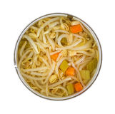 Can of oriental type vegetables and noodles Stock Photos