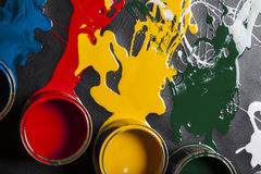 Can of paint Royalty Free Stock Image