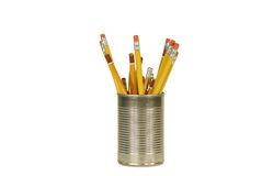 Can of pencils Stock Image
