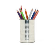 Can of pens Royalty Free Stock Photography