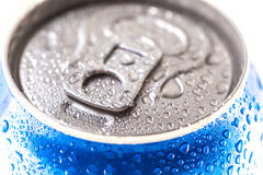 Can of Pepsi cola on a bed of ice. Kyiv, Ukraine - MARCH 19, 2016: Can of Pepsi cola on a bed of ice and white background, Pepsi is a carbonated soft drink Royalty Free Stock Image