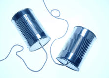 Can phones. Two can phones Royalty Free Stock Photos