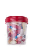 Can of pills Royalty Free Stock Images