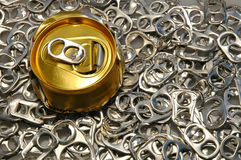 Can on pop tops Royalty Free Stock Photo