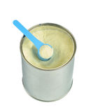 Can with powdered milk. Stock Image