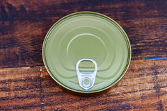 Can of preserves Stock Image