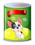 A can with a puppy Stock Image