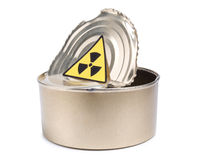 Can and radiation Royalty Free Stock Images