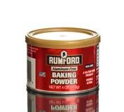 Can of Rumford Aluminum-free Baking Powder gluten free Stock Photo