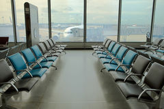 Can see empty armchairs at the airport Stock Images