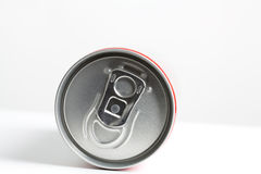 A can of soda. A red can of soda royalty free stock image