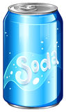 A can of soda. Illustration of a can of soda on a white background Stock Images