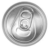 Can of soda top view Stock Images