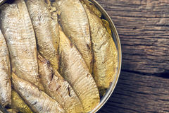 Can of sprats Royalty Free Stock Images