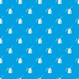 Can of spray paint pattern seamless blue. Can of spray paint pattern repeat seamless in blue color for any design. Vector geometric illustration Stock Image