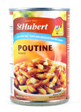 Can of St. Hubert Poutine Gravy sauce. MONTREAL, QUEBEC, CANADA - 12 OCTOBER 2016: Can of St. Hubert Poutine Gravy sauce. Great with fries and cheese curds! royalty free stock photo