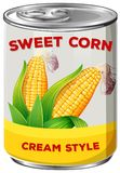 A Can of Sweet Corn Stock Image