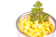 Can of sweetcorn Stock Photo